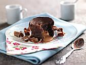 Fondant au Chocolat mit Karamellfüllung