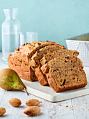 Pear and raisin bread or cake