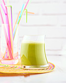 Detox juice of black radish, apple, pineapple and cucumber