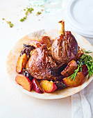 Lamb Mouse with Peaches and Prunes