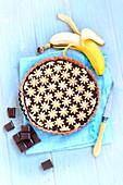 Bananen-Schokoladentarte
