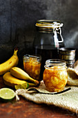 Banana Jam with Rum and Lime