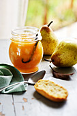 Pear jam with vanilla