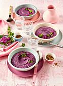 Purple beet pur�e
