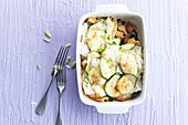 Lasagne mit Hühnchen und Gemüse