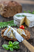 Camembert with brown bread