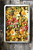 Oven-baked Mexican rice