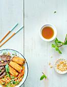 Bo Bun (Rindfleisch mit Reisnudeln, Vietnam)