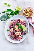 Shrimp,noodle and Vietnamese rice salad