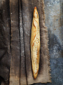 Traditionelle Baguettebrot