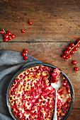 Redcurrant clafoutis