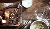 Zutaten und Utensilien für die Dessert-Zubereitung