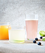 Flavored coconut water drinks