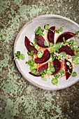 Beet salad with watercress
