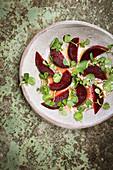 Beet salad with watercress