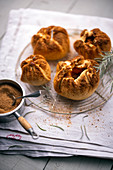 Quince flaky pastry pies