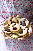 Easter bunny chocolate sandwich biscuits