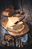 Cantal on a cheeseboard