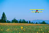 Flight with biplane
