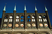 Historical facade, Town hall of Luebeck, Germany