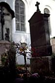 Grave from Rainer Werner Fassbinder, cemetery bogenhausen, Munich, Germany