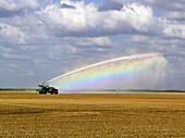 Field being irrigated, Farmground near Miami, Florida, USA
