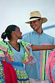 Dancer in folk costumes, Santo Domingo, Dominican Republic, Caribbean, America