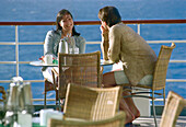 Young couple at breakfast, Cruise ship Aida, Caribbean, America