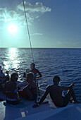 Sailing trip in backlight, St. Lucia, Caribbean