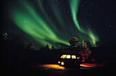 Nordlichter Aurora Borealis, Auto