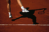 Tennis player at serve, Tennis, French Open