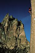 Freeclimbing, Stefan Glowacz climbing up a rockface