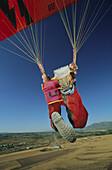 Paraglider beim Start, USA, Amerika