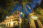 Hotel Alfonso III at night, Sevilla, Andalusia, Spain, Europe