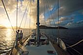 Yacht in der Karibik