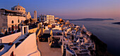 Houses in the afterglow, Thira, Santorin, Greece
