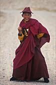 Tibetischer Moench Qinghai See, Tibet