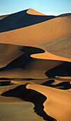 Sand dunes in the afterglow, Namib desert, Namibia, Africa