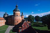 Gripsholm castle under blue sky, Mariefred, Sweden, Europe