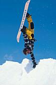 Snowboarding Handstand