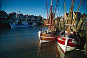 Harbor of Neuharingersiel, Eastern Frisia, Lower Saxony, Germany
