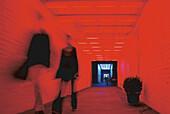 Neon-Installation, in den Sophie-Gips-Hoefen Berlin, Deutschland