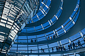 Glass cupola of Reichstag, Parliament, Berlin