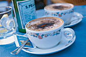 Two cups of Cappuccino, Campania, Italy