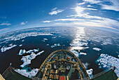 Icebreaker in the Canadian Arctic, Nunavut, Canada, North America