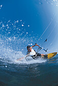 Man kitesurfing, El Naba, Red Sea, Egypt