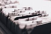 Card index, files