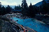 Natur Schwimmbad, 70m lang, Marecottes bei Martigny Wallis, Schweiz