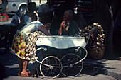 Knoblauchverkäuferin, Limassol Zypern