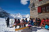 Monte Rosa Huette, Zermatt, Wallis Schweiz